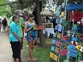 Arts & Craft festival booth