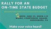 Rally for On-Time State Budget