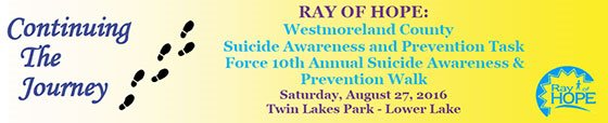 Ray of Hope Suicide Awareness and Prevention Walk