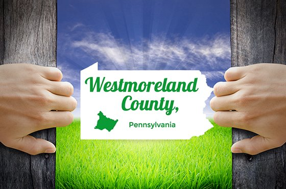 Westmoreland County logo in green