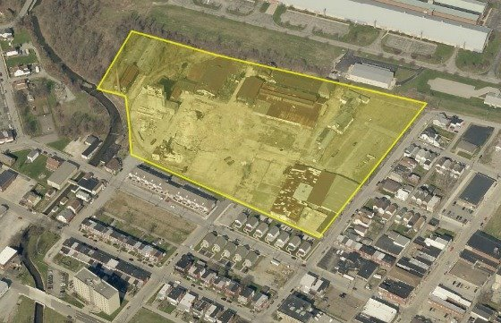 Outline of the 13.2-acre parcel in the City of Jeannette