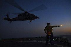 Night ops aboard USS Mount Whitney