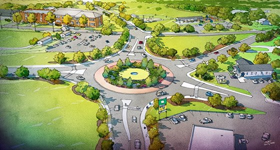 Proposed roundabout in Norvelt