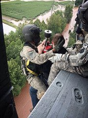 PA National Guardsmen assisting during flooding