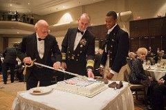Navy  Birthday Cake Cutting