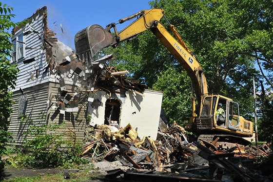 Demolition of a home