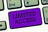 Limited Access button on computer keyboard