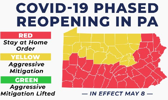 Phased Reopening of PA map in effect May 8