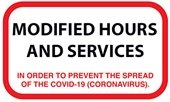 Modified Hours and Services Due to COVID-19