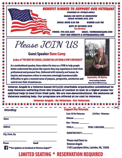 Flyer for October 30 Dinner with Dave Carey