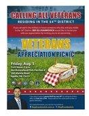 Veterans Appreciation Picnic Aug. 5th flyer