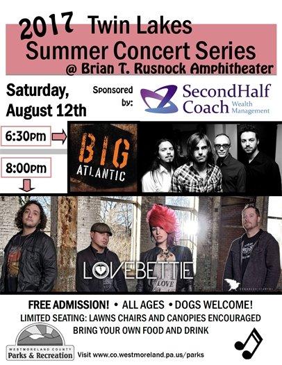 Lovebettie and Big Atlantic concert flyer