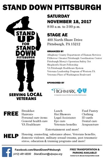 Stand Down Pittsburgh 2017 Flyer