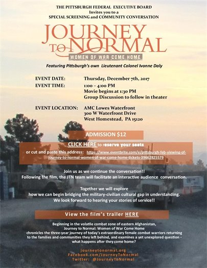 Journey to Normal screening Dec. 7th in Pittsburgh