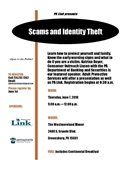 Scams & ID Theft flyer