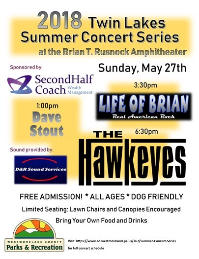 Twin Lakes Summer Concert Series Kick-Off flyer