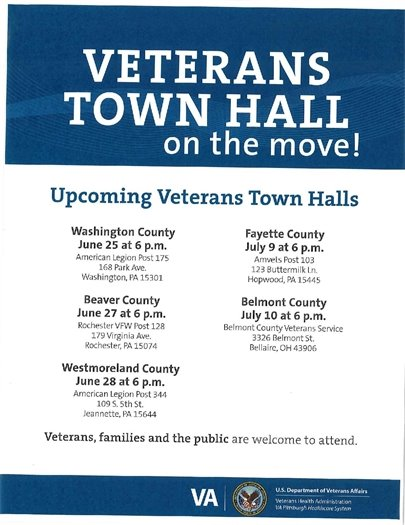 VA Town Halls on the move June-July 2018