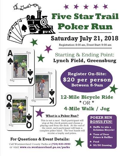 Poker Run event flyer