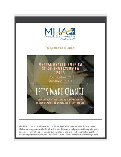 Mental Health America Sept. conference flyer