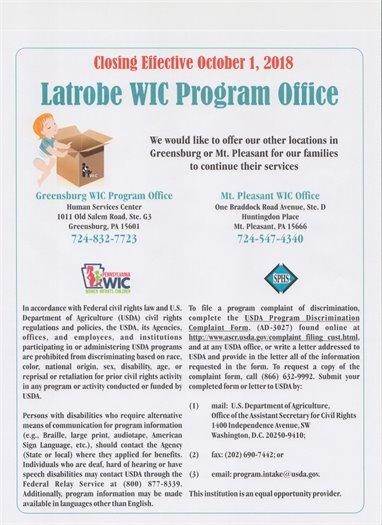 Latrobe WIC Office alternatives