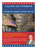 Veterans Appreciation Picnic flyer for October 1st in Youngwood