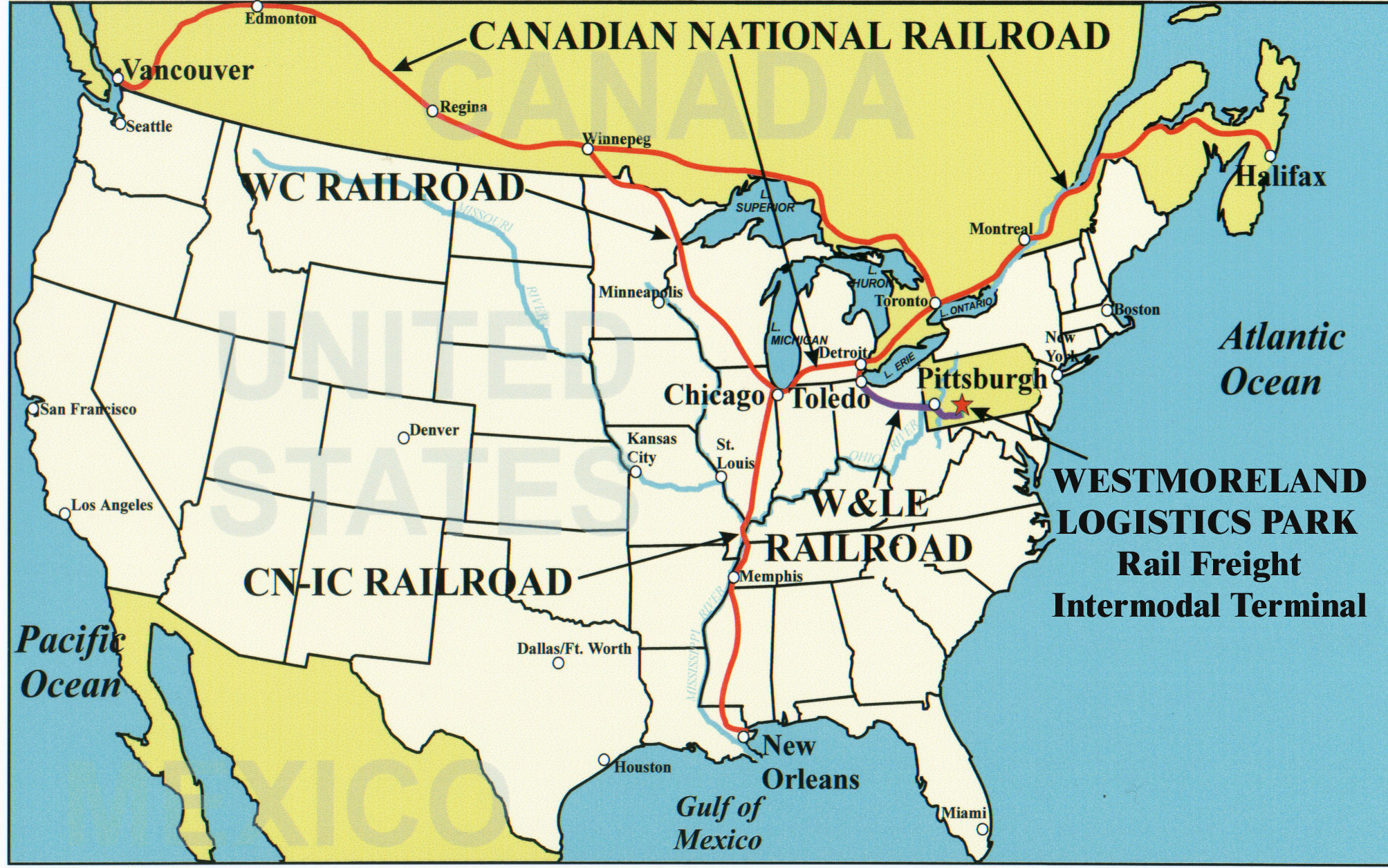 Pin canadian national railroad map on pinterest - Cn Rail Connection