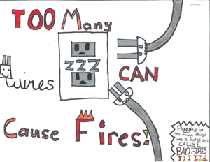 Fire Safety Poster 4th-grade-4th-place