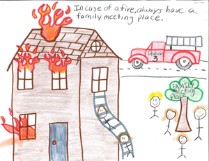 Fire Safety Poster 4th-grade-5th-place