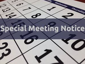 Calendar Special Meeting Notice