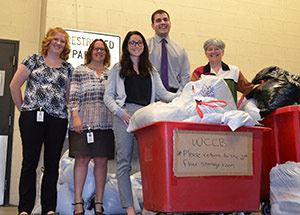 Westmoreland County Children&#39s Bureau and Deluzio & Company staff with Clothing Drive Donations