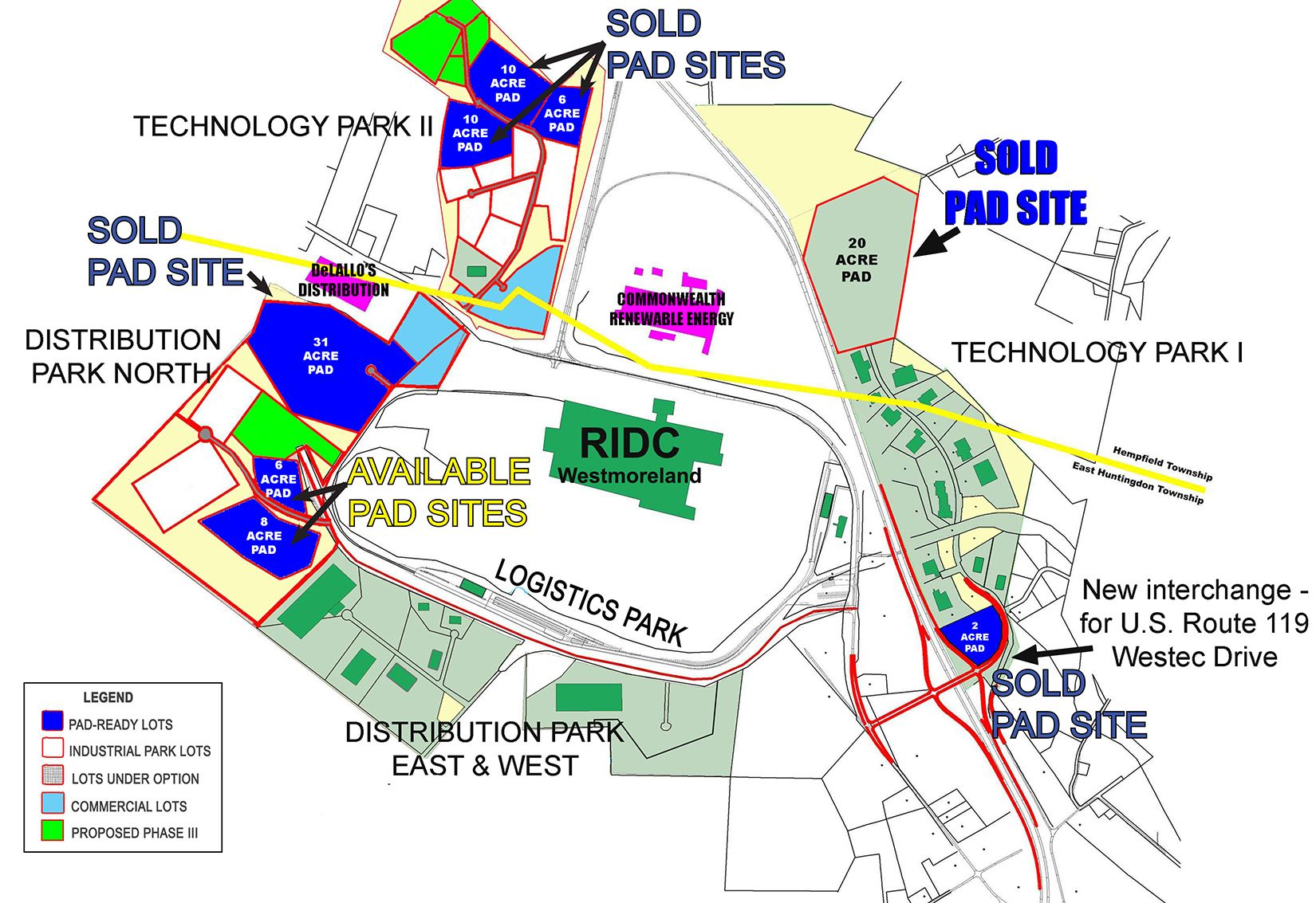 Pad Ready Site Plan