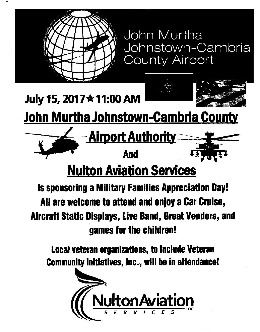 Mil Fam Aviation Day July 15, Johnstown