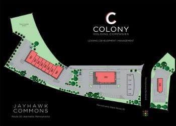 Colony Holding Companies&#39 proposed design for Jeannette Rt. 30 Redevelopment