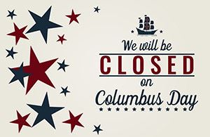 Columbus Day Closure Notice