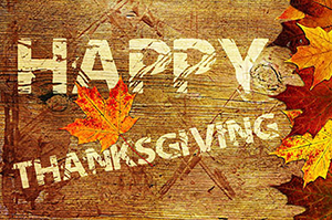 Happy Thanksgiving Wooden Sign