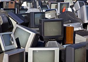 Recycled televisions computer monitors and other electronics