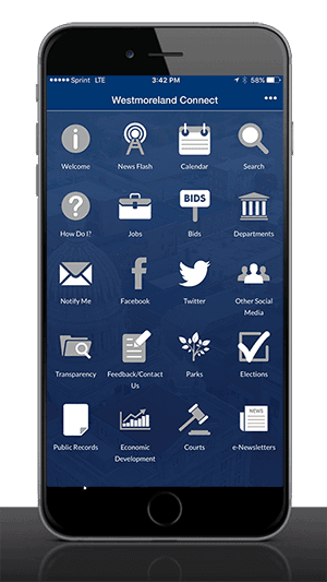 Westmoreland Connect Mobile App on phone