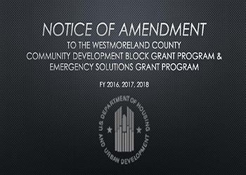 NOTICE OF AMENDMENT
