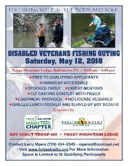 Disabled Vets Event Fishing Event May 12