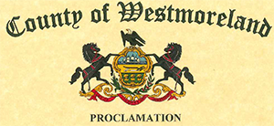 County of Westmoreland Seal with word Proclamation