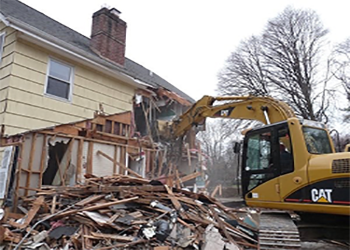 tearing down house