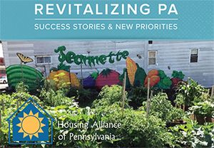 Cover of PA Housing Alliance Report showing Jeannette Community Garden
