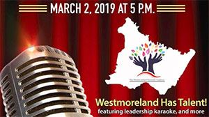 Westmoreland County Diversity Coalition Talent Event - stage curtains with microphone