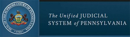 PA Unified Judicial System logo and website banner