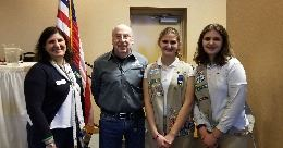 Mike Zebrak with Girl Scouts from Delmont