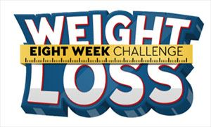 Words Weight Loss Challenge with measuring tape wrapped around it