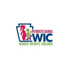 WIC logo with colorful silhouette of pregnant woman and child