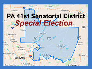 PA 41st Senatorial District Map and Special Election notice