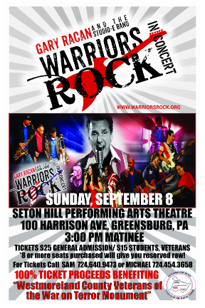 Warriors Rock Concert flyer