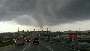 View of Hempfield Tornado 2011 from Route 30 West